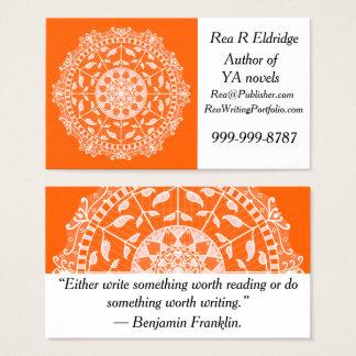 Cartão De Visitas Mandala da papoila