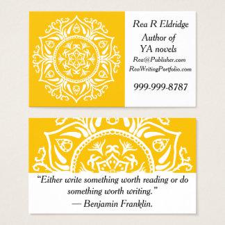 Cartão De Visitas Mandala do mel