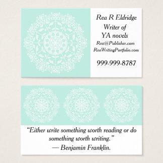Cartão De Visitas Mandala do vidro do mar