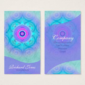 Cartão De Visitas Mandala ID129 de turquesa da flor de Lotus