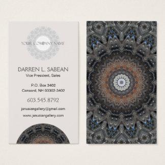 Cartão De Visitas Mandala moderna da simplicidade de prata masculino