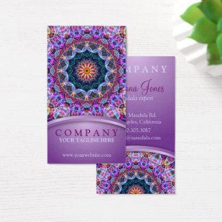 Cartão De Visitas Mandala roxa de Lotus
