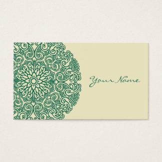 Cartão De Visitas Mandala verde