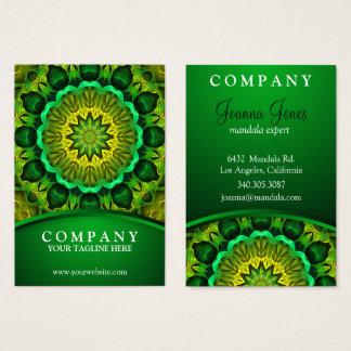 Cartão De Visitas Mandala verde holística, guardiães de florescência