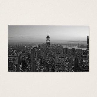 Cartão De Visitas Manhattan preto e branco