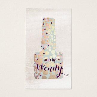 Cartão De Visitas Manicuro polonês do salão de beleza do prego da