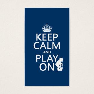 Cartão De Visitas Mantenha a calma e o jogo em (alguma cor)