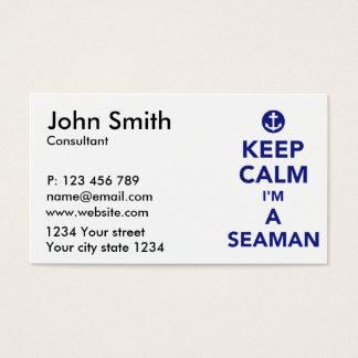 Cartão De Visitas Mantenha a calma que eu sou um marinheiro