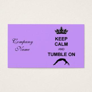 Cartão De Visitas Mantenha gymnast calmo e da queda