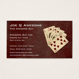 Cartão De Visitas Mão de póquer do resplendor real