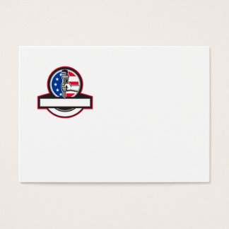 Cartão De Visitas Mão do canalizador que guardara o círculo Banne da