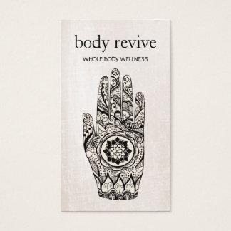 Cartão De Visitas Mão do Henna do curandeiro da energia e do