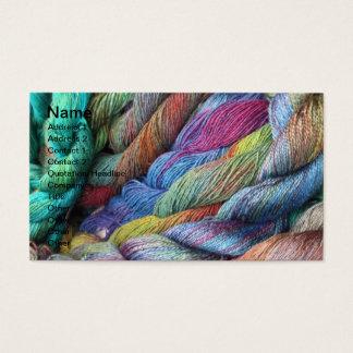 Cartão De Visitas mão multicoloured lãs tingidas para a venda