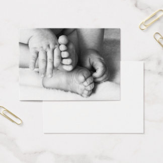 Cartão De Visitas Mãos e pés do bebê