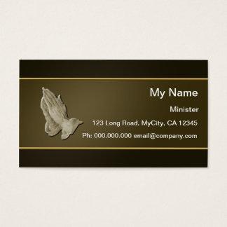 Cartão De Visitas Mãos Praying