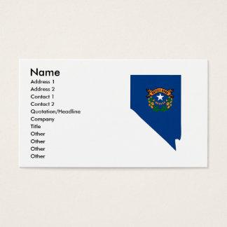 Cartão De Visitas Mapa da bandeira de Nevada
