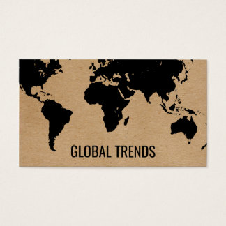 Cartão De Visitas Mapa do mundo | 2 naturais