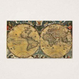 Cartão De Visitas Mapa do mundo antigo #2 afligido