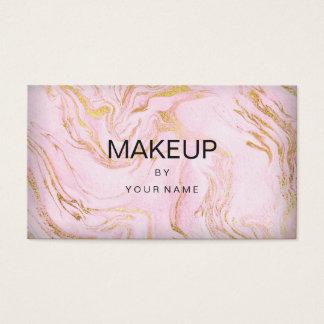 Cartão De Visitas Maquilhador cor-de-rosa branco de Typografy do