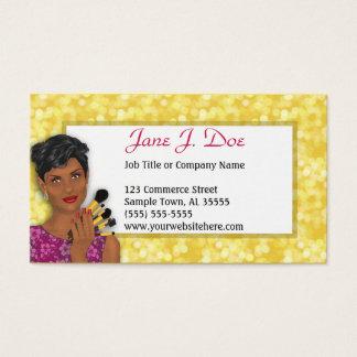 Cartão De Visitas Maquilhador da beleza, afro-americano