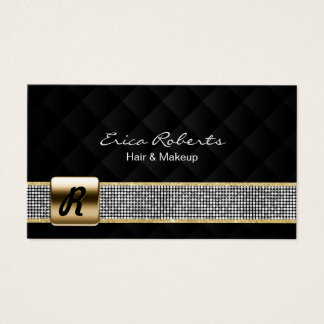 Cartão De Visitas Maquilhador de prata do luxo da correia do