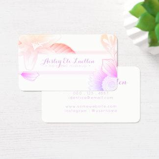 Cartão De Visitas maquilhador floral e cabelo do verão do salão de
