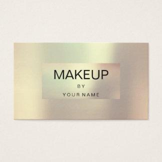 Cartão De Visitas Maquilhador quadro perolado metálico do ouro