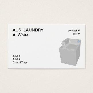 Cartão De Visitas máquina de lavar a fichas