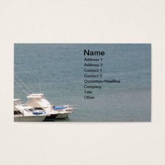 Cartão De Visitas Mar e barcos