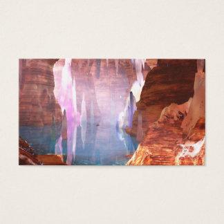 Cartão De Visitas Marcador de brilho das cavernas