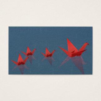 Cartão De Visitas Marcador quietos do dia chuvoso