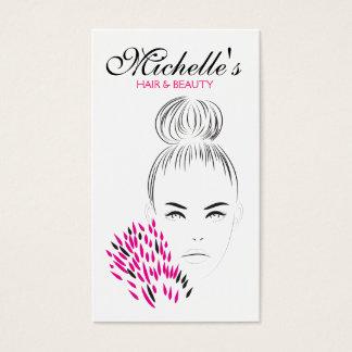 Cartão De Visitas Marcagem com ferro quente bonita da ilustração da
