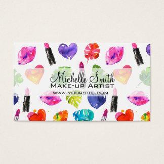 Cartão De Visitas Marcagem com ferro quente cor-de-rosa da