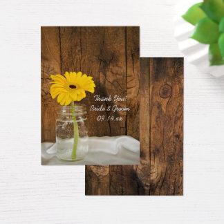 Cartão De Visitas Margarida em Tag do favor do casamento do país do