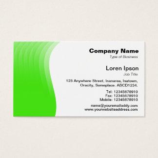 Cartão De Visitas Margem da onda - verde