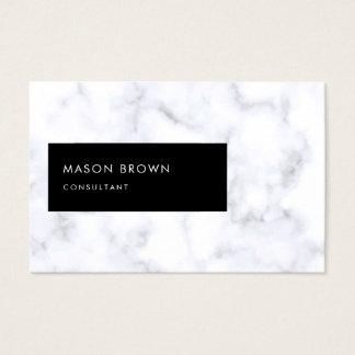 Cartão De Visitas Mármore branco elegante moderno de Profi do