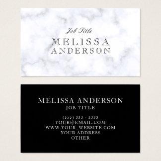 Cartão De Visitas Mármore branco profissional da pia batismal de
