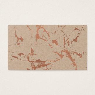 Cartão De Visitas Mármore cor-de-rosa rachado nervoso do ouro em