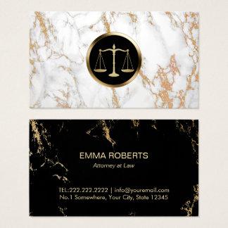 Cartão De Visitas Mármore na moda do logotipo da escala do ouro do