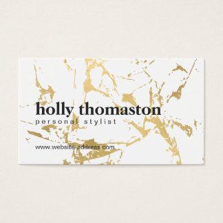Cartão De Visitas Mármore rachado nervoso do ouro