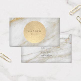 Cartão De Visitas Mármore seguinte das cinzas do ouro de Kraft do