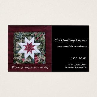 Cartão De Visitas Marrom da estrela da edredão