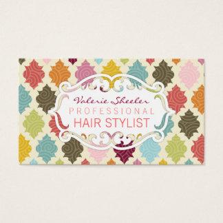 Cartão De Visitas Marroquino colorido Quatrefoil - Bizcards feito