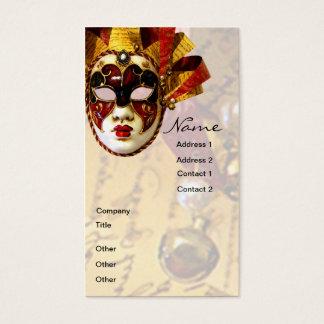 Cartão De Visitas Máscara, ator & teatro do carnaval
