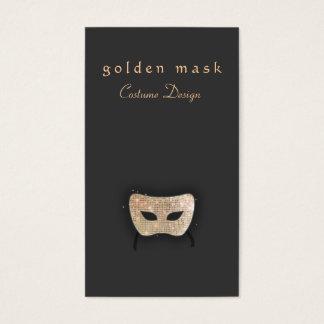 Cartão De Visitas Máscara do Sequin do ouro das artes de palco