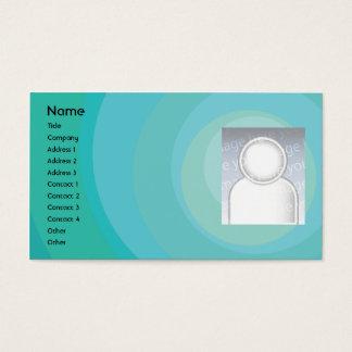 Cartão De Visitas Máscaras azuis do círculo - negócio