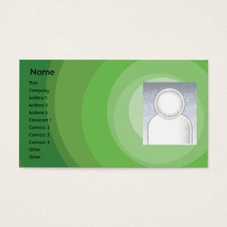 Cartão De Visitas Máscaras verdes do círculo - negócio