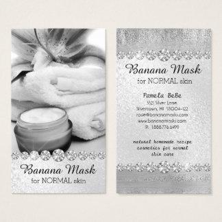 Cartão De Visitas Massagem caseiro de creme da receita de Skincare
