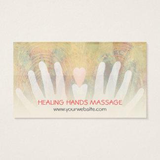 Cartão De Visitas Massagem cura das mãos