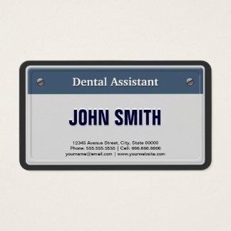 Cartão De Visitas Matrícula legal do carro do assistente dental